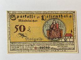 Allemagne Notgeld Lilienthal 50 Pfennig - [ 3] 1918-1933 : République De Weimar
