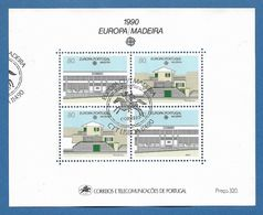 Portugal / Madeira 1990 Mi.Nr. Block 11 (133/34) , EUROPA CEPT  Postalische Einrichtungen - Gestempelt / Fine Used / (o) - 1910-... República