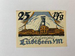 Allemagne Notgeld Lubtheen 25 Pfennig - [ 3] 1918-1933 : République De Weimar