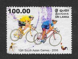 Sri Lanka 2006 10th South Asian Games Cycling Rs100.00 Used Stamp SG1832 - Sri Lanka (Ceylan) (1948-...)