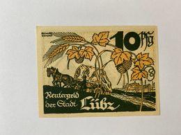 Allemagne Notgeld Lubz 10 Pfennig - [ 3] 1918-1933 : République De Weimar