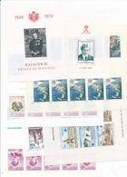 N-961: MONACO BF** N°8-10-12-13-14-16-17- - Blocks & Sheetlets
