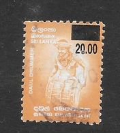 Sri Lanka 2006 Daul Drummer Surcharge Rs20.00 On Rs3.00 Used Stamp SG1841 - Sri Lanka (Ceylan) (1948-...)