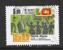 Sri Lanka 1998 50th Anniversary Of Independence Rs5.00 Used Stamp SG1385 - Sri Lanka (Ceylan) (1948-...)