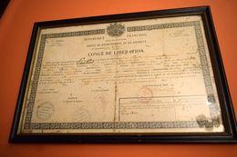 1850 CONGÉ DE LIBÉRATION, SOLDAT DU TARN, RABASTENS - Documenti