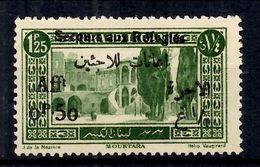 Grand Liban Variété Maury N° 67A Surcharge Noire Neuf ** MNH. TB. A Saisir! - Great Lebanon (1924-1945)