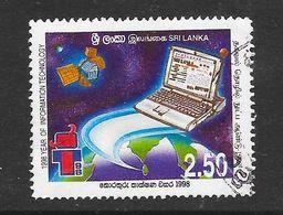 Sri Lanka 1998 Year Of Information Technology Rs2.50 Used Stamp SG1408 - Sri Lanka (Ceylan) (1948-...)