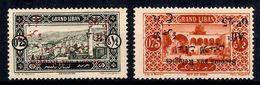 Grand Liban Variétés Maury N° 63C Et N° 65A Surcharges Renversées Neufs *. B/TB. A Saisir! - Gross-Libanon (1924-1945)