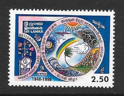 Sri Lanka 1998 50th Anniversary Of Meteorological Department Rs2.50 MNH Stamp SG1414 - Sri Lanka (Ceylan) (1948-...)