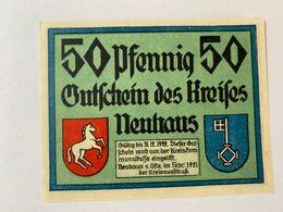 Allemagne Notgeld Neuhaus 50 Pfennig - [ 3] 1918-1933 : République De Weimar