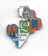 Pin's  Ville, Gendarmerie  BRIGADE  De  QUETIGNY  ( 21 ) - Army