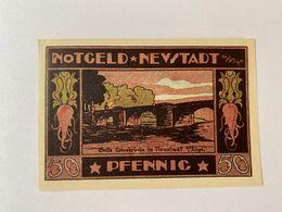 Allemagne Notgeld Neustadt 50 Pfennig - [ 3] 1918-1933 : République De Weimar