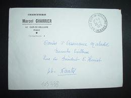 LETTRE OBL.24-11 1970 85 LE GUE DE VELLUIRE VENDEE + CHARCUTERIE Marcel CHARRIER - Marcofilia (sobres)
