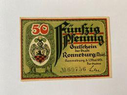 Allemagne Notgeld Ronneburg 50 Pfennig - [ 3] 1918-1933 : République De Weimar