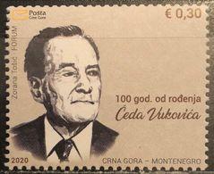 Montenegro, 2020, The 100th Anniversary Of The Birth Of Čedo Vuković, 1920-2014 (MNH) - Montenegro