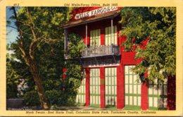 California Tuolumne County Mark Twain-Bret Harte Trail Old Wells Fargo Office Built 1855 Columbia State Park 1952 Curtei - United States