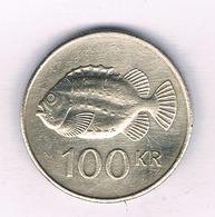 100 KRUNOR 1995 IJSLAND /5511/ - Islande