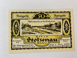 Allemagne Notgeld Stolzenau 50 Pfennig - [ 3] 1918-1933 : République De Weimar