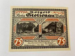 Allemagne Notgeld Stolzenau 75 Pfennig - [ 3] 1918-1933 : République De Weimar