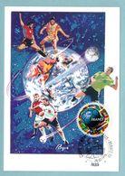 Carte Maximum 1998 - Coupe Du Monde De Football 1998 - YT 3140 (adhésif YT 17) - Paris - 1990-99