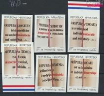 Kroatien Z14B-Z19B (kompl.Ausg.) Postfrisch 1991 Neue Verfassung (9458316 - Croatie