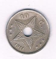 10 CENTIMES 1911 BELGISCH  CONGO /5514/ - Belgisch-Kongo & Ruanda-Urundi