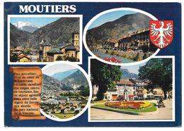 73 - MOUTIERS (Savoie) - Multivues Avec Blason - Ed. Cim Combier - 1979 - Moutiers