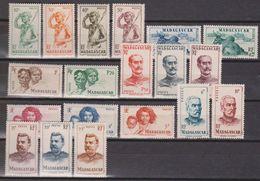 Madagascar N° (yt) 300 à 318 Neufs ** - Madagascar (1889-1960)