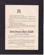 HASTIERE LAVAUX ELSEN Ernest Veuf DUCHATEAU 1852-1905 Famille De BROGNIEZ - Décès