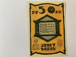 Allemagne Notgeld Warin 50 Pfennig - [ 3] 1918-1933 : République De Weimar