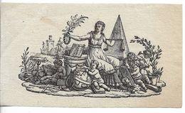 Jolie Vignette Révolutionnaire Découpée - Historical Documents
