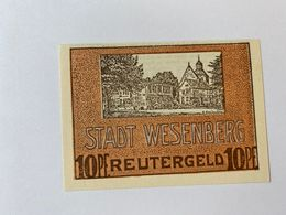 Allemagne Notgeld Wesenberg 10 Pfennig - [ 3] 1918-1933 : République De Weimar