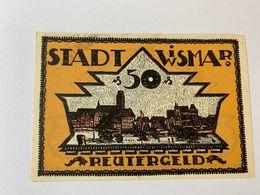 Allemagne Notgeld Wismar 50 Pfennig - [ 3] 1918-1933 : République De Weimar