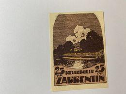 Allemagne Notgeld Zarrentin 25 Pfennig - [ 3] 1918-1933 : République De Weimar