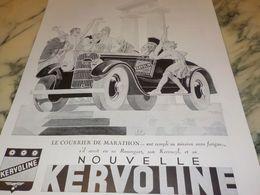ANCIENNE PUBLICITE COURRIER DE MARATHON  KERVOLINE 1933 - Transporto