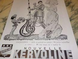 ANCIENNE PUBLICITE CROISSADES  KERVOLINE 1933 - Transporto