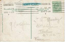 1909 - Carte De Londres Pour Toul - Timbre Edouard VII Vert 1/2 Penny - Tp N° 106 - Storia Postale