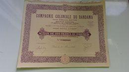 COMPAGNIE COLONIALE DU BANDAMA(1930) - Actions & Titres