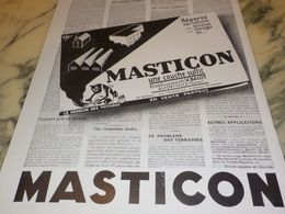 ANCIENNE PUBLICITE REPAREZ VOTRE TOITURE ACEC MASTICON  1933 - Advertising