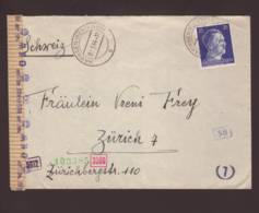 Lettre  Obl. Hayingen (Westmark) Moselle/Lorraine 02.05.1944 ->Zurich - Zensur/censored/censure OKW D - Guerra De 1939-45