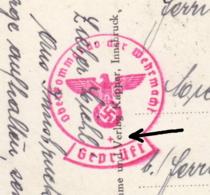Carte à Vue Innsbruck   Obl. Innsbruck 30.01.1940 -> Brunier / Pusteria Zensur/censored/censure OKW D  DP1.1 - Alemania