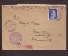 Lettre Schweizerisches Consulat Obl. Friedrichsruh (Bz. Hamburg) 12.01.1944 -> Bern -  Zensur/censored/censure OKW D - Briefe U. Dokumente