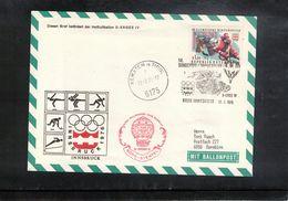 Austria / Oesterreich 1975 Olympic Games Innsbruck Ballonpost Interesting Cover - Winter 1976: Innsbruck