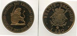 Medaille - 1/1/1980     Belgie-Belgique    - 1 LEO - 39 Mm - 7500 Ex  - Brons Gepol. Stempel - Jetons De Communes