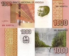 ANGOLA 1000 Kwanzas 2012 - Kalandula Falls, P156a, UNC - Angola