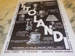 ANCIENNE PUBLICITE TITO LANDI 1933 - Affiches
