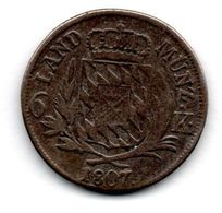 Bayern  - 6 Kreuzer 1807  -  état  B - Small Coins & Other Subdivisions