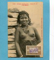 A O F- Sénégal- Jeune Fille Maure-seins Nus-gros Plan Animé-édition Fortier-années 1910-20 - Senegal