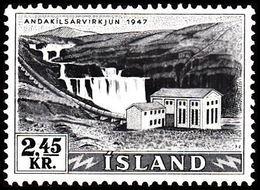 1956. Electric Power Plants And Waterfalls Og Vandfald. 2,45 Kr. (Michel 308) - JF363598 - 1944-... Republic