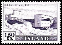 1956. Electric Power Plants And Waterfalls Og Vandfald. 1,50 Kr. (Michel 306) - JF363599 - 1944-... Republic